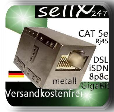 Patchkabel Verbinder Metall Cat